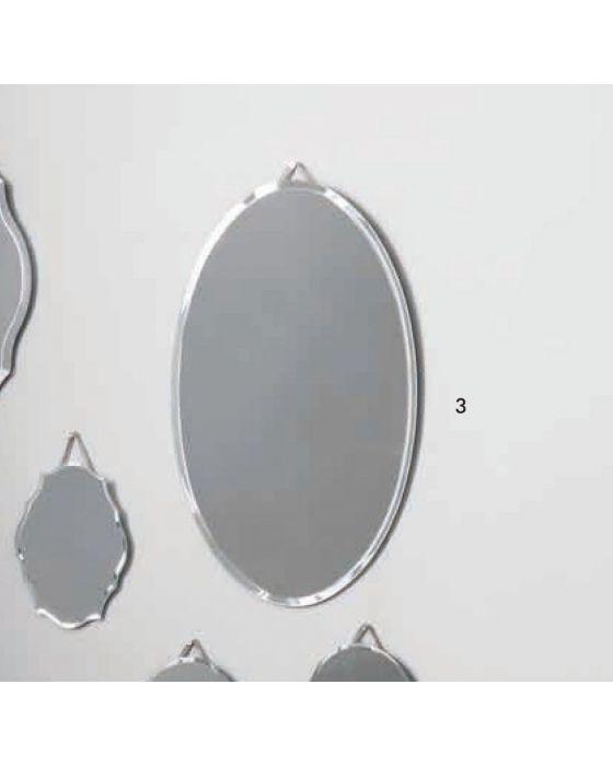 Helen Glass Oval Wall Mirror
