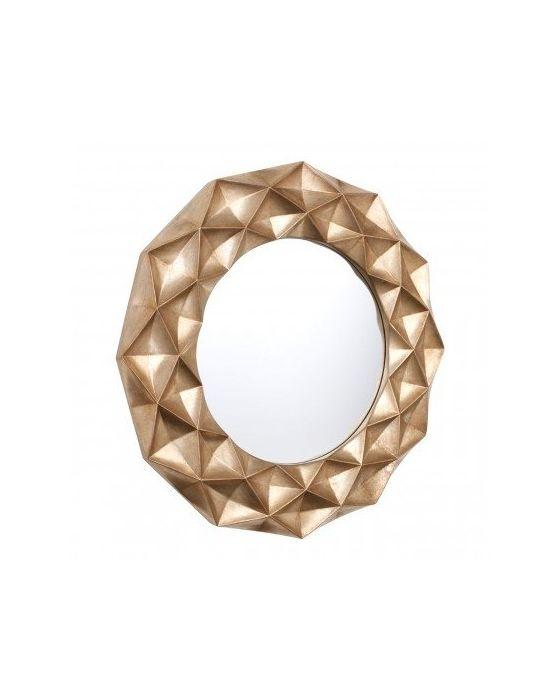 Hexa Gold Finish Wall Mirror
