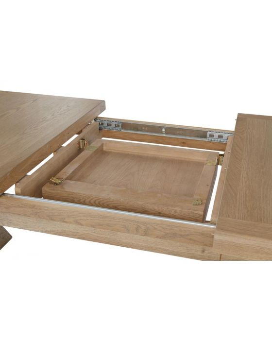 Hodson 2.0m Cross Leg Dining Table W/Bench & Chairs