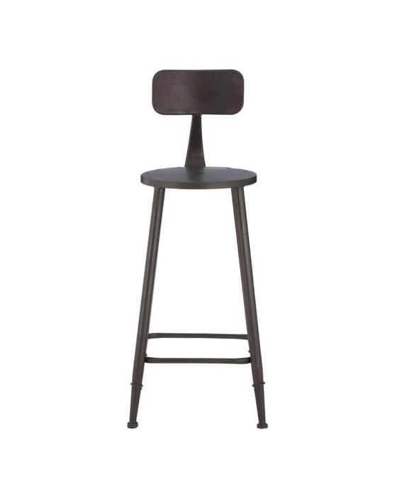 Industrial Metal Curved Bar Chair