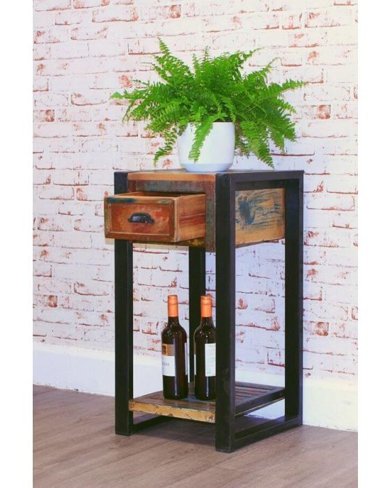 Industrial Reclaimed Lamp Table
