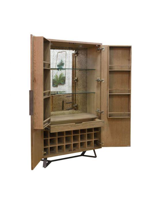 Irina Aged Grey Wine Cabinet