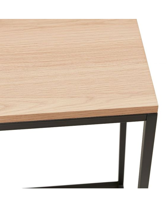 Therese Natural Wood and Black Console Table