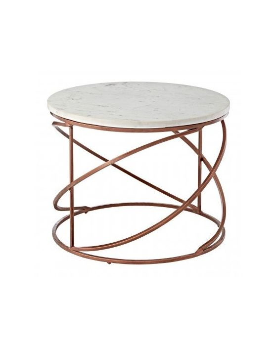 Kanpur Copper Round Coffee Table