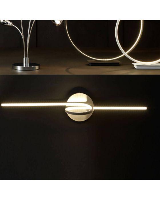 Langston Black LED Spiral Wall Light