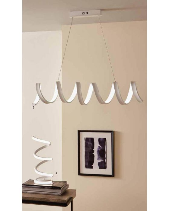 Langston LED White Spiral Pendant
