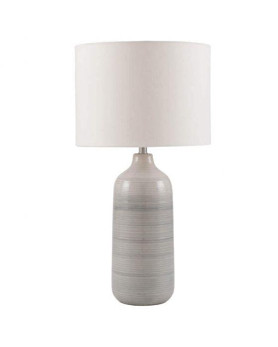 Light Grey Ombre Ceramic Table Lamp