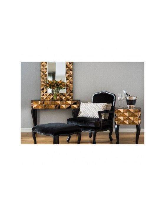 London Smoked Copper Glass Console Table