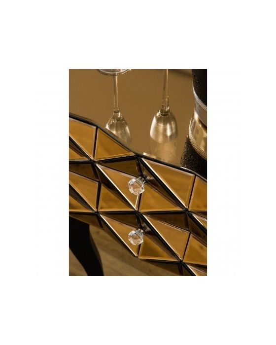 London Smoked Copper Glass Side Table