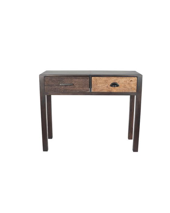 Ludovica Hand Carved Patterned 2 Drawer Console Table
