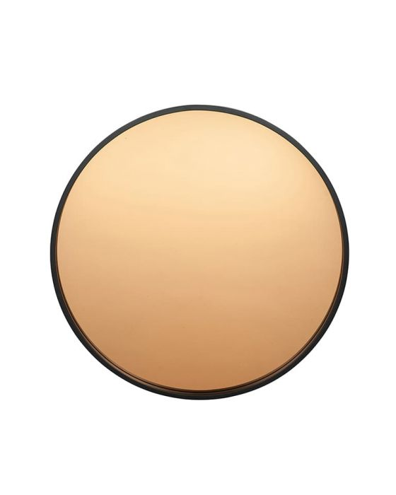 Matt Black Wooden Framed With Mirror Rose Gold Glass