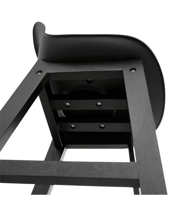 Mattson Black Leather Effect Bar Stool