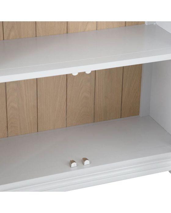 Mendes Soft Grey Large Bookcase