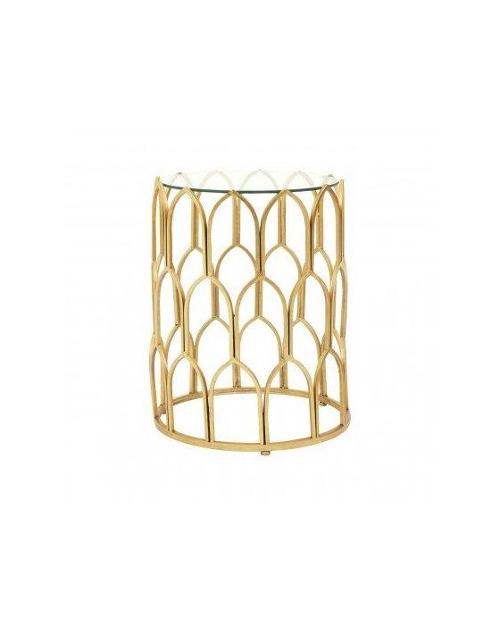 Merlin Gold Leaf Side Table