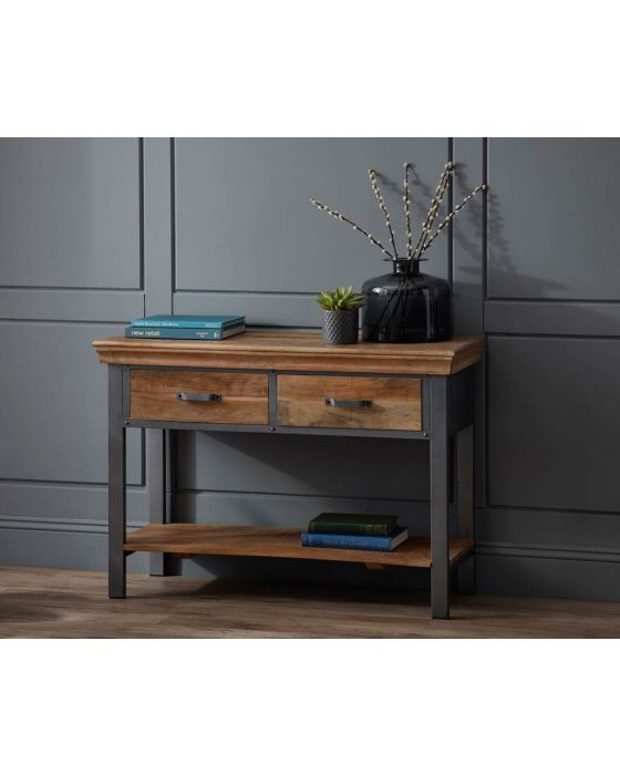 Metro Industrial 2 Drawer Console Table