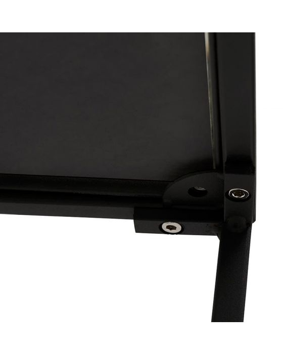 Mikael Black Glass Top Side Table