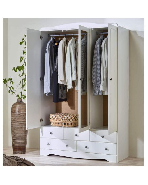 Milly 3+5 Wardrobe with Mirror