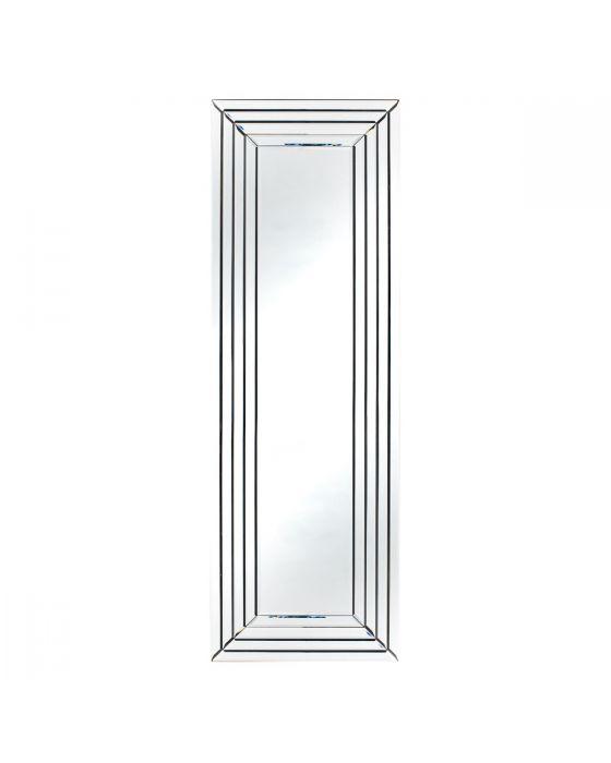 Mirrored Glass Art Deco Rectangular Floor Mirror