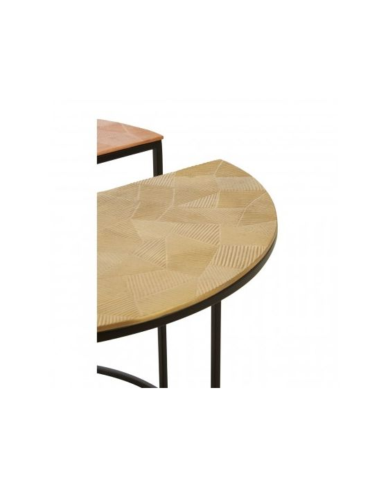 Miza Set of 3 Assorted Round Side Tables