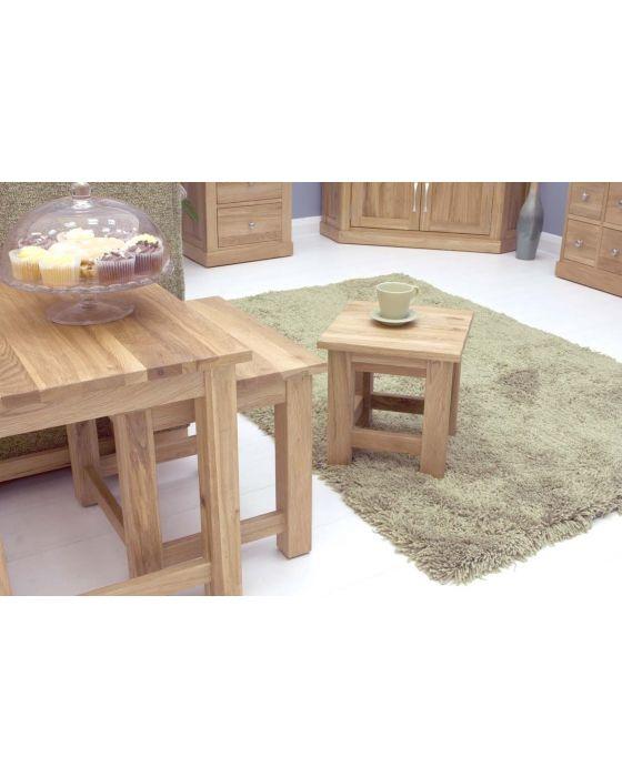 Modern Light Oak Nest of 3 Coffee Tables