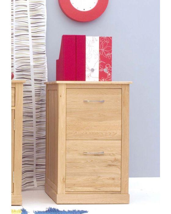 Modern Light Oak Two Drawer Filing Cabinet