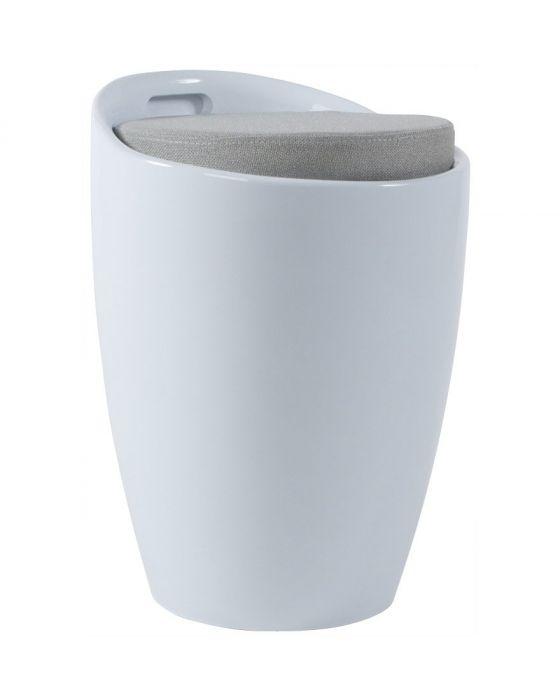 Modern Padded Storage Tub Stool