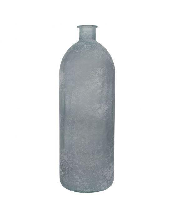 Mottled Grey Recycled Glass Escavo Bottle Large