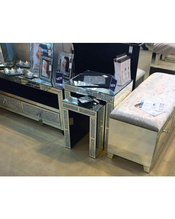 Nest Of 2 Mirrored Milano Tables