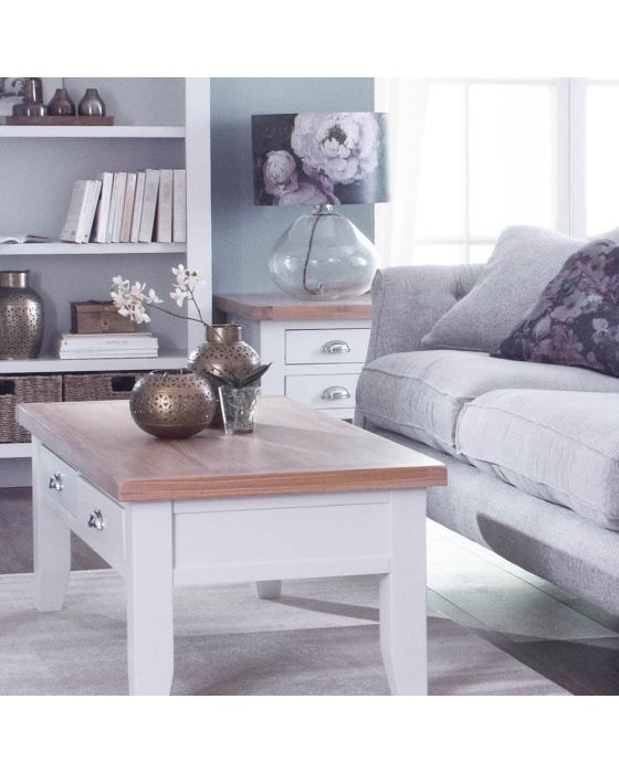 Newholme White Side Table