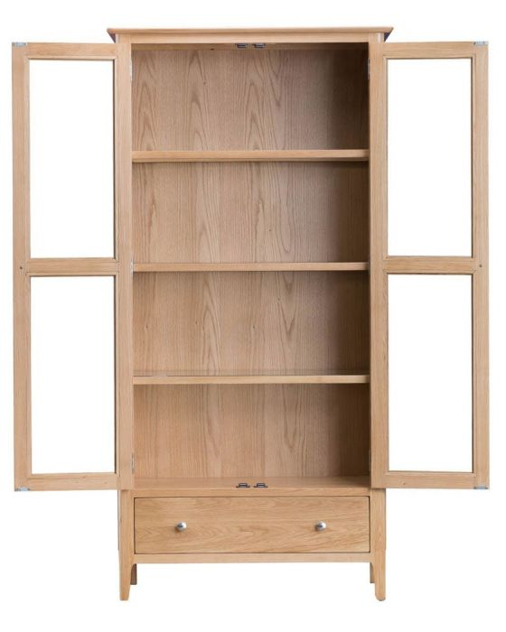Noah Oak Display Cabinet