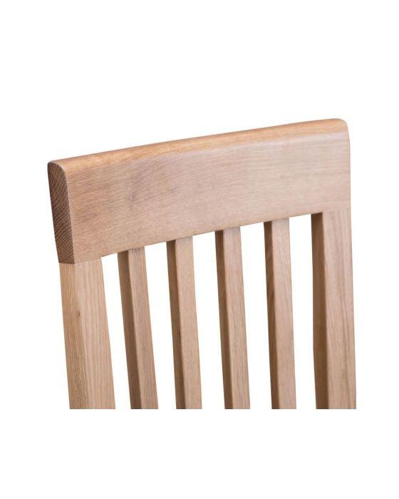 Noah Oak Slat Back Chair Fabric - Box of 2