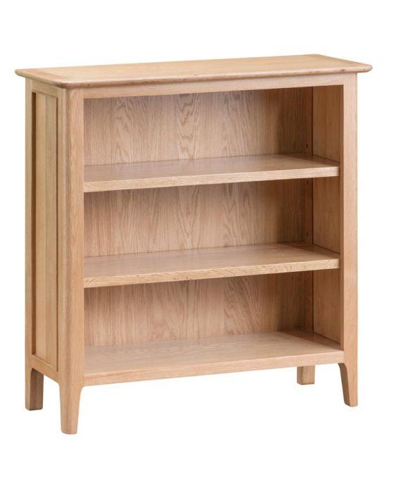 Noah Oak Small Wide Bookcase