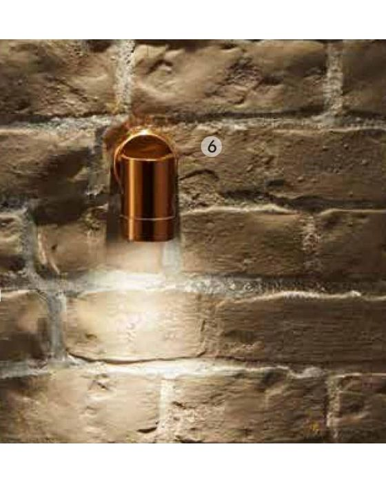 Outdoor Copper Metal Fixed Spot Wall Light
