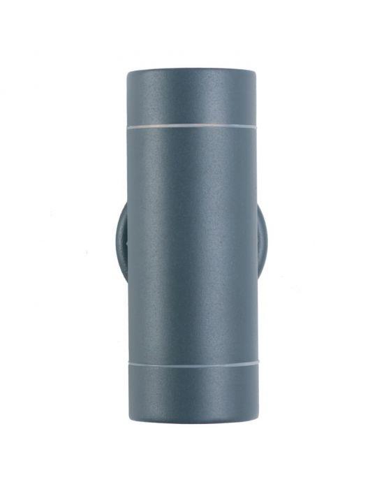 Outdoor Dark Grey Metal Dual Wall Light