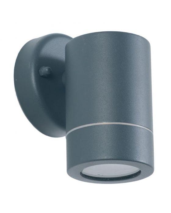Outdoor Dark Grey Metal Fixed Spot Wall Light