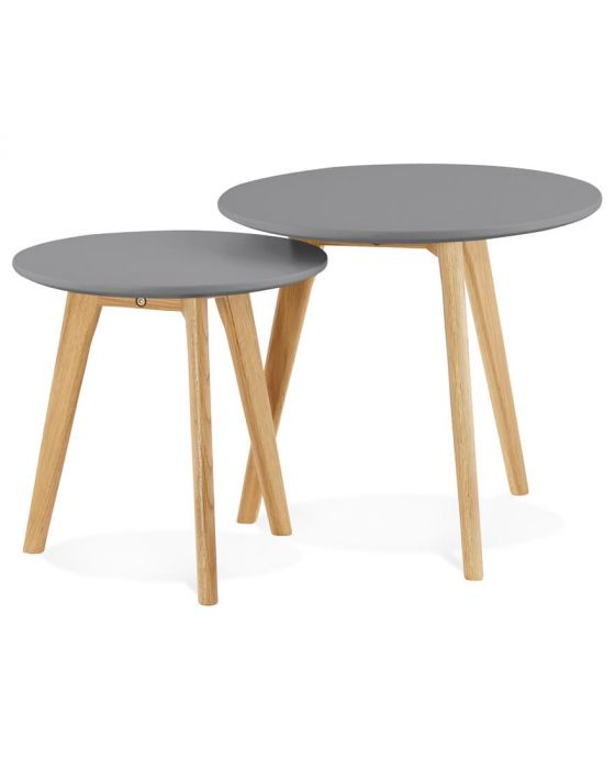 Ove Grey Set of 2 Round Tables