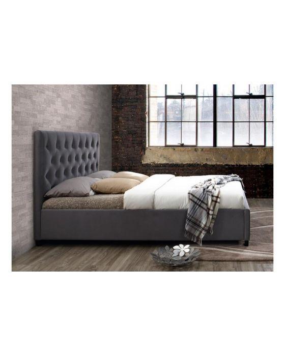 Paris Grey Or Crushed Velvet Upholstered Bed Frames