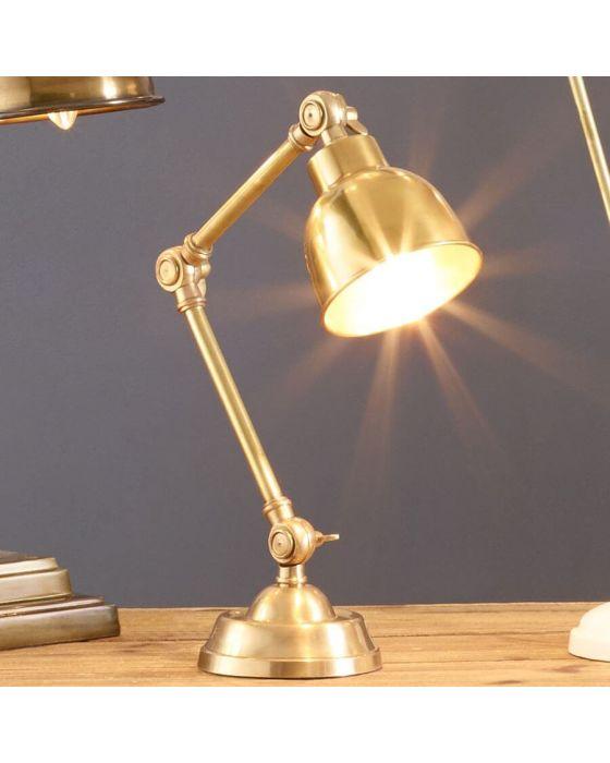 Pennington Antique Brass Task Table