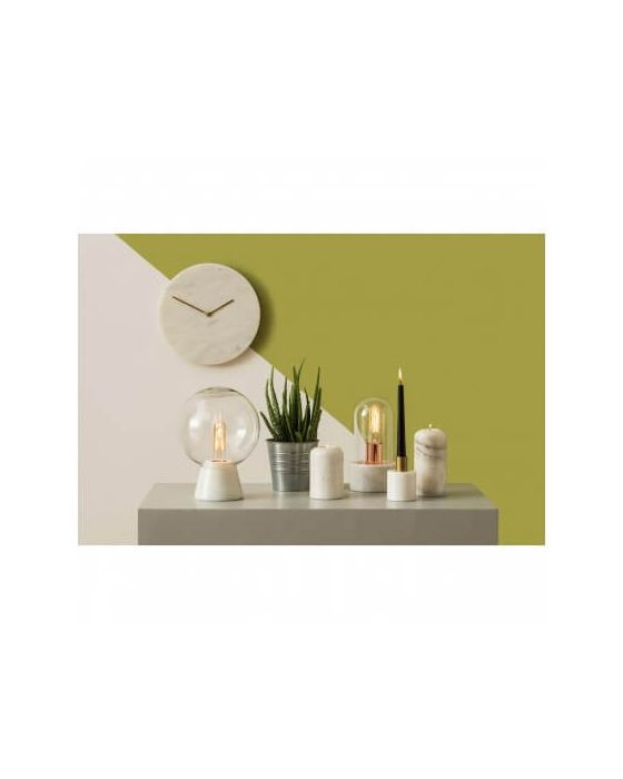 Premium White Marble Wall Clock