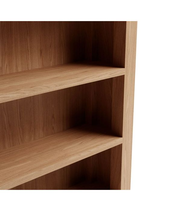 Richtown Oak Small Wide Bookcase