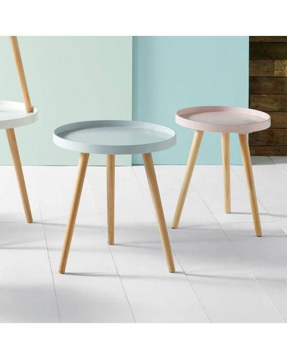 Scandi Pine Wood Side Table