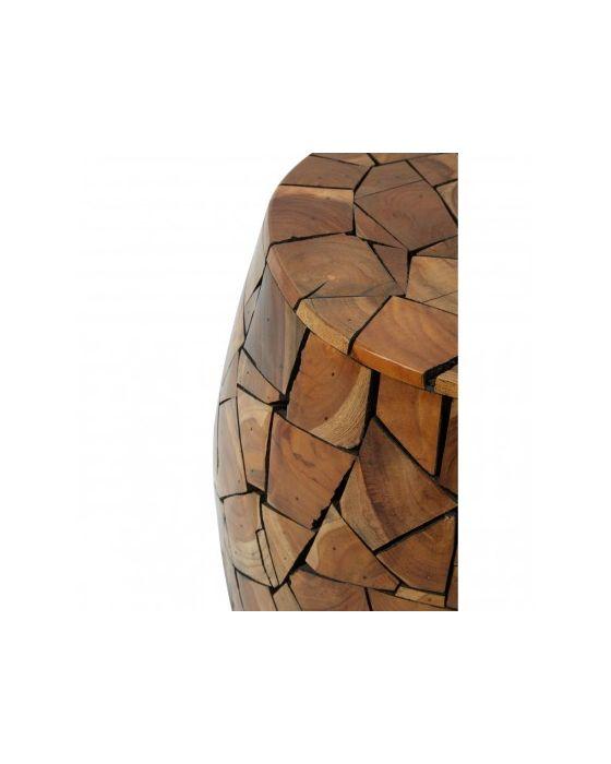 Shakir Teak Wood Stool/Side Table