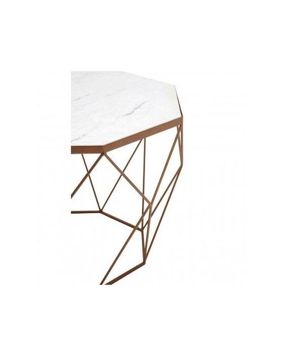 Shazaar Copper Octagon Coffee Table
