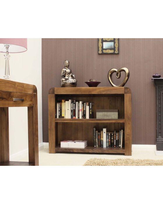 Solid Walnut Low Bookcase