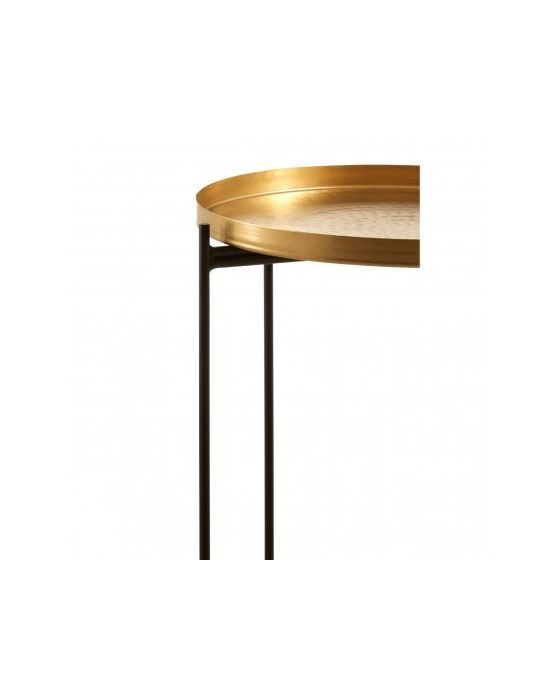 Templar Gold Finish Iron Top Side Table