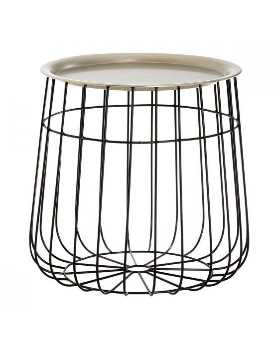 Templar Silver Iron Wire Detail Side Table