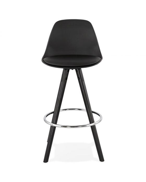 Theo Black PU Leather Designer Bar Chair