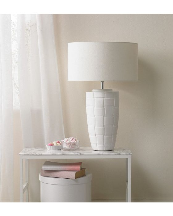 Thomas Woven Table Lamp