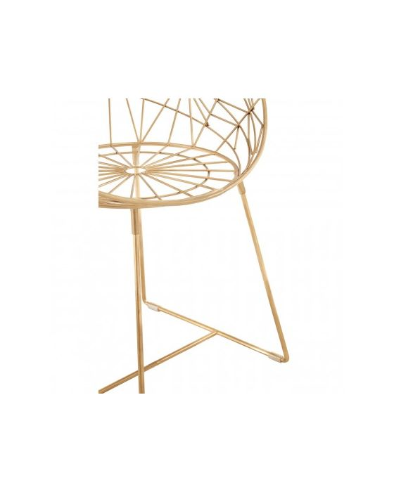 Trinity Spider Web Design Iron Chair