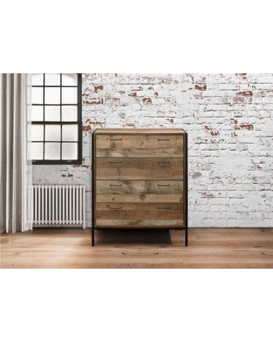 Urban 4 Drawer Rustic Wooden Chest
